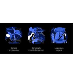 Bioengineering abstract concept vector