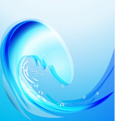 blue beach waves vector image