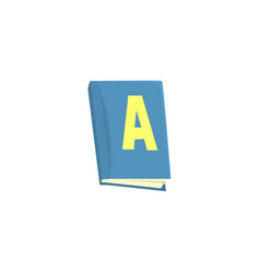 Blue school textbook cartoon vector