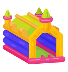 bouncy castle icon bright playing outdoor system vector image