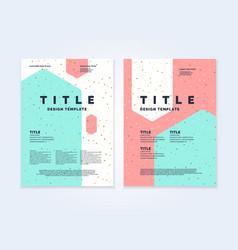 Brochure template for business modern journal vector