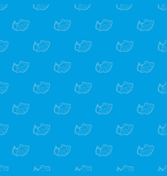 Car accident pattern seamless blue vector