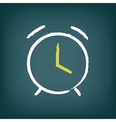 Chalk alarm clock vector