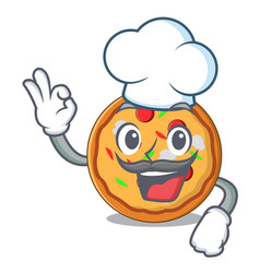 chef pizza character cartoon style vector image