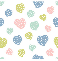 childish seamless pattern with hearts creative vector image