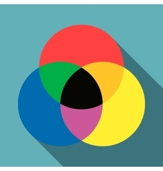 Color range spectrum circle round palette icon vector