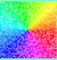 colorful background with pixel rainbow gradient vector image