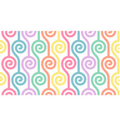 Colourful shapes abstract seamless pattern vector