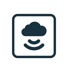 Connect cloud icon Rounded squares button vector