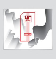 cool gradient shape futuristic design 3d shape vector image