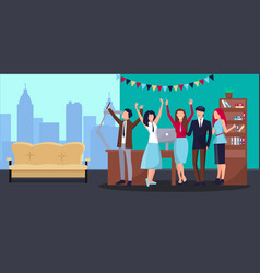 corporate party in office vector image