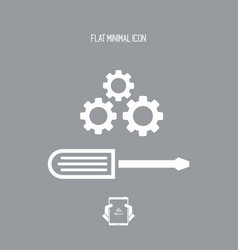 creative working flat icon vector image