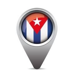Cuba flag pointer vector image