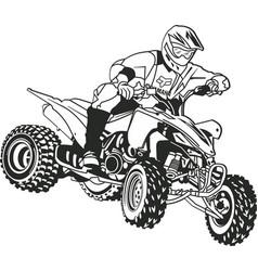 Dirt bike rider vector