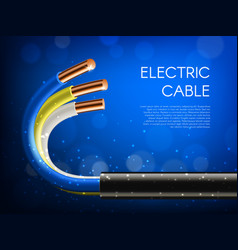 Electric cables laying electricity supply banner vector