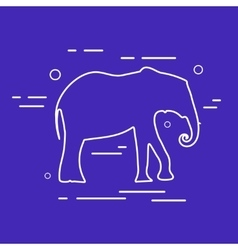 Elephant line icon vector