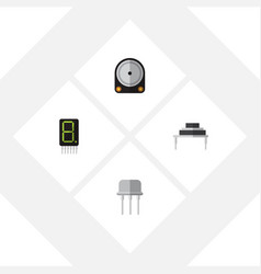 Flat icon device set of hdd display destination vector