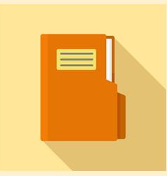 folder icon flat style vector image