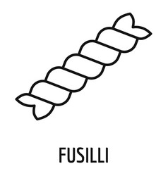 fusilli pasta icon outline style vector image