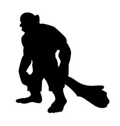 giant person silhouette monster villain fantasy vector image
