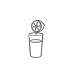 glass of juice hand drawn outline doodle icon vector image