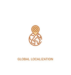 Global localization concept 2 colored icon simple vector