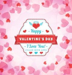 Happy Valentines Day Typographical Badge vector