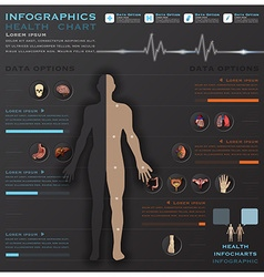 Health and medical infographic infocharts vector