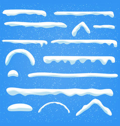 Ice-sheet with icicle contains icicles stars vector