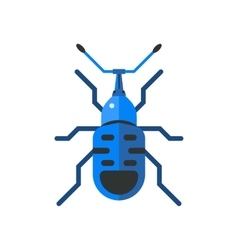 Insect icon flat isolated on white background vector image