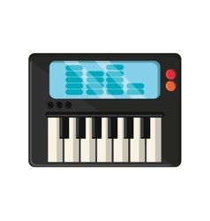 Isolated piano instrument design vector