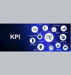 Kpi - key performance indicator banner vector