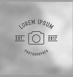 logo for photographer with icon camera vector image