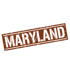 maryland brown square stamp vector image