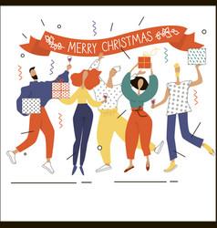 Merry christmas celebration 5 vector