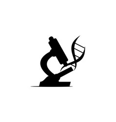 microscope flask and dna vector image