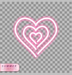 neon heart symbol vector image