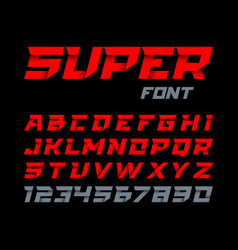 paper style super font italic type alphabet and vector image