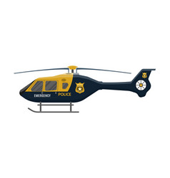 Police helicopter icon aircraft vehicle vector