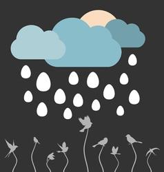 Rain eggs vector image