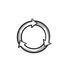 Reuse and refresh symbol hand drawn sketch icon vector