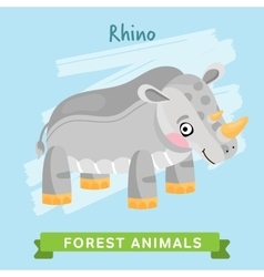 rhino forest animals vector image