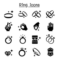 ring icon set vector image
