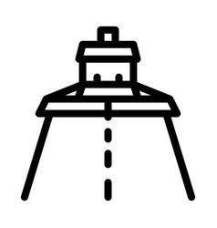 road repair paver machine icon outline vector image