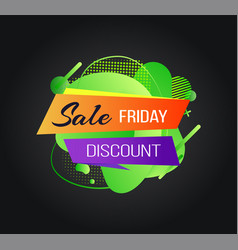 Sale black friday special offer discount banner vector