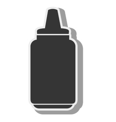 sauce bottle container vector image vector image