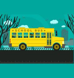 School bus back to school vector