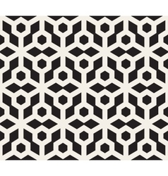 Seamless Black And White Hexagonal Pattern vector image