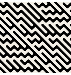 Seamless hand drawn diagonal zigzag lines vector