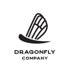 simple dragonfly logo vector image
